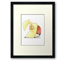 pikachu falling pokemon Framed Print
