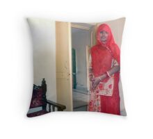 Woman in Jodhpur Throw Pillow