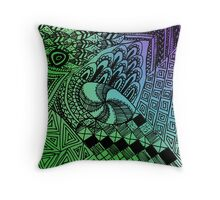 Feathered Aspirations, Peacock Ambission Throw Pillow