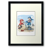 team magma and aqua rivals childhood Framed Print