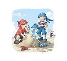 team magma and aqua rivals childhood Photographic Print