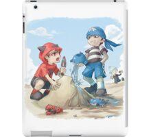 team magma and aqua rivals childhood iPad Case/Skin