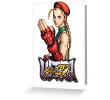 ultra street fighter cammy Greeting Card