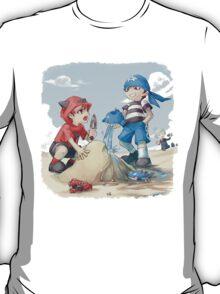 team magma and aqua rivals childhood T-Shirt