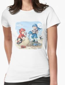 team magma and aqua rivals childhood Womens Fitted T-Shirt