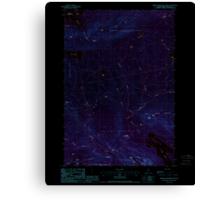Maine USGS Historical Map Barren Mountain West 460155 1988 24000 Inversion Canvas Print