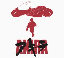 Akira Red on Black Kids Clothes
