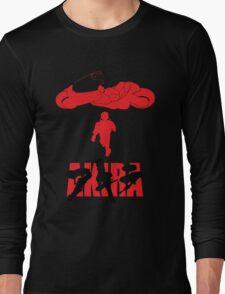 Akira Red on Black Long Sleeve T-Shirt