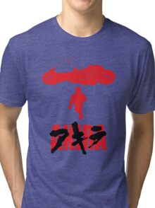 Akira Red on Black Tri-blend T-Shirt