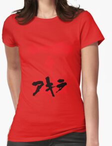 Akira Red on Black Womens Fitted T-Shirt
