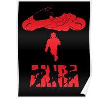 Akira Red on Black Poster