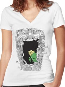 Erm ... 'scuse me ... Women's Fitted V-Neck T-Shirt