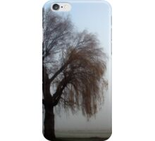 Willow weeping in the fog. iPhone Case/Skin