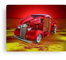 Red Pick Up Reflected Canvas Print