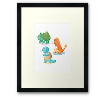 pokemon 1st gen cool design Framed Print