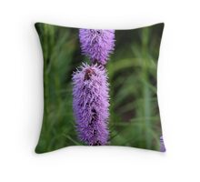 Blue grape Flower Throw Pillow