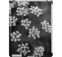 Queen Anne's Lace - Black and White iPad Case/Skin