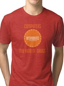 BitsAndBytes, Computers are my drugs Tri-blend T-Shirt