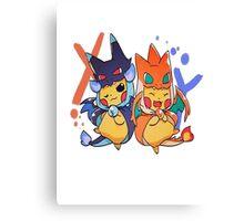 pikachu as mega-charizard x and y Canvas Print