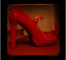 Ttv: Red Mary Jane Photographic Print
