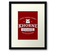 Khorne Framed Print
