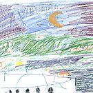 Waxing Moon over Mosman by John Douglas