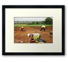 Three Archaeologists and a Roman Road Framed Print