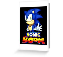 Classic Sonic Boom Greeting Card