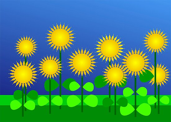 Bright sunflowers by CanDuCreations