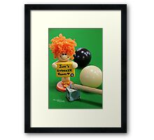 Jims snooker room Framed Print