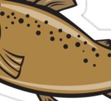 Brown Trout Fish Side Cartoon Sticker