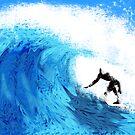 Surfing by JayBakkerArt