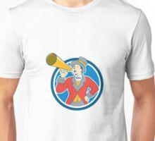 Circus Ringmaster Bullhorn Circle Cartoon Unisex T-Shirt