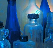 Pickles, Whiskey and Wine In Blue by Susan Bergstrom