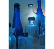 Pickles, Whiskey and Wine In Blue Photographic Print