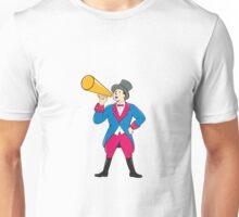 Circus Ringmaster Bullhorn Standing Cartoon Unisex T-Shirt