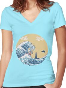 The Great Sea Women's Fitted V-Neck T-Shirt
