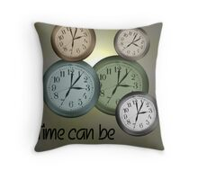 Time Can Be Confusing Throw Pillow
