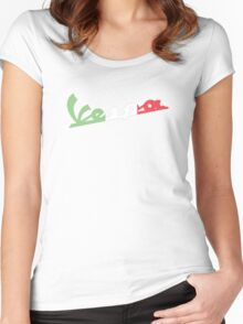 VESPA ITALIAN FLAG Women's Fitted Scoop T-Shirt