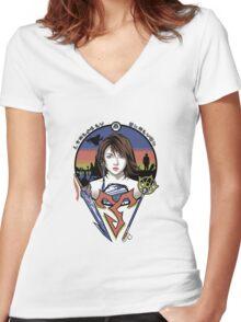 To Zanarkand Women's Fitted V-Neck T-Shirt