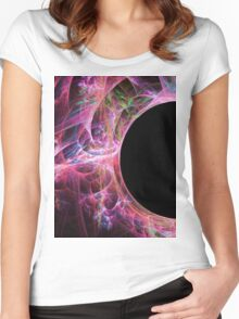 Solar Eclipse-Available As Art Prints-Mugs,Cases,Duvets,T Shirts,Stickers,etc Women's Fitted Scoop T-Shirt