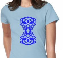 Damask Hour Glass TARDIS Womens Fitted T-Shirt