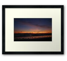 Gulf Sunset Framed Print