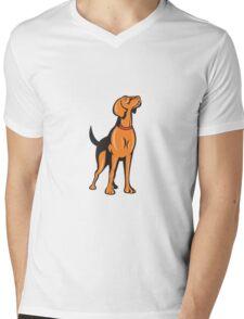 Cocker Spaniel Golden Retriever Dog Cartoon Mens V-Neck T-Shirt