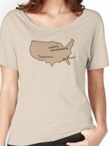 Monorail Map Women's Relaxed Fit T-Shirt