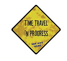 Time Travel Caution Photographic Print