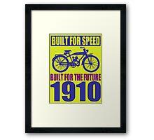 BUILT FOR SPEED-1910 Framed Print