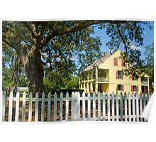 House with a white picket fence . . . Poster