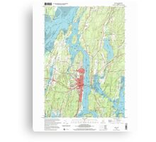 Maine USGS Historical Map Bath 104901 2000 24000 Canvas Print