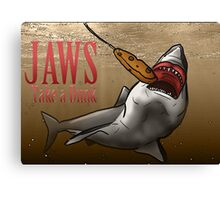 JAWS Take A Dunk  Canvas Print
